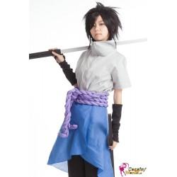 NARUTO Sasuke Uchiha Cosplay Kostüm 3 Anime Blau und Weiß
