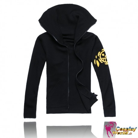 one piece trafalgar law cosplay schwarz pulli sweatshirt pullover