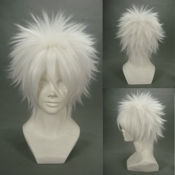 GinTama Gintoki Sakata Weiße Cosplay Perücke
