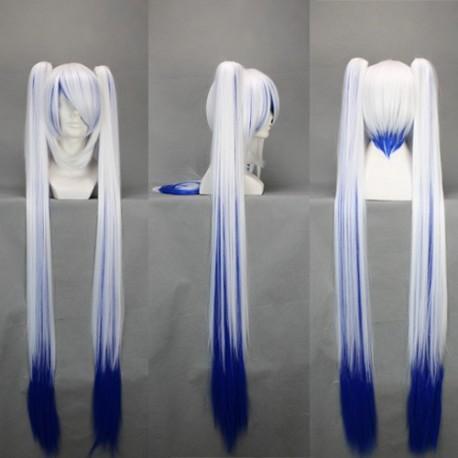 vocaloid miku 120 cm schneeweisse blaue cosplay perucke