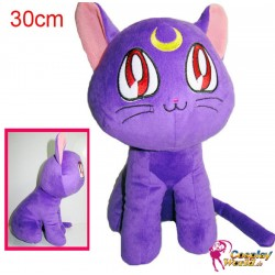sailor moon cosplay luna katze cat plusch puppe anime stofftier 30 cm