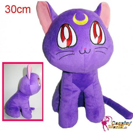 sailor moon cosplay luna katze cat plusch puppe anime stofftier 30 cm