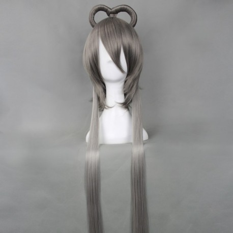 vocaloid luo tianyi silbergraue cosplay perucke