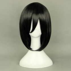 shingeki no kyojin attack on titan mikasa ackerman schwarze cosplay perucke