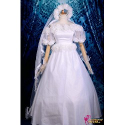 anime manga sailor moon usagi tsukino wedding lolita cosplay kostum