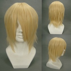 final fantasy snow villiers hellbraune cosplay perucke billige perucken
