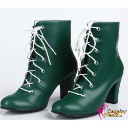 sailor moon sailor jupiter cosplay universal queen high heels shoes lita kino