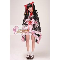 hochwertige japan sakura kimono cosplay kostume