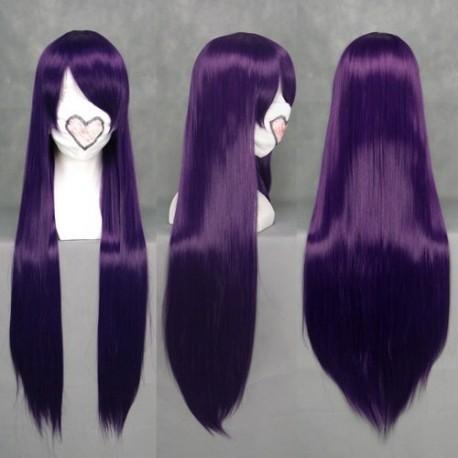 eva misato katsuragi purple cosplay wig
