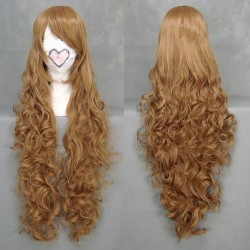 code geass nunnally lamperouge gelbbraune cosplay wellige perucke
