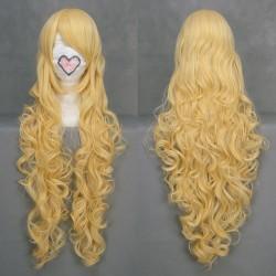 touhou project watatsuki notoyohime gelbe wellige cosplay perucke