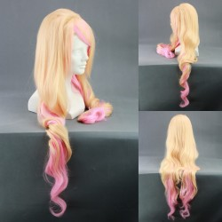 Macross Frionter Sherly Nome gelbe rosa Cosplay Perücke