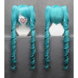 vocaloid miku cosplay blue wellige cosplay perucke