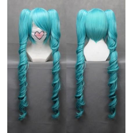 vocaloid miku cosplay blue wellige cosplay perucke