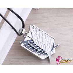 shingeki no kyojin attack on tian survey corp punk sign necklace