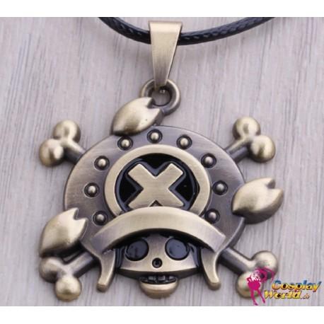 one piece cosplay accessoire schadel skull personalisierte anhanger halskette