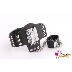Anime Manga Attack on Titan Shingeki no Kyojin Cosplay Accessoire Personalisierte Armband 2er Set