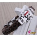 Anime Manga One Piece Cosplay Accessoire Schädel skull personalisierte Armband 2er Set