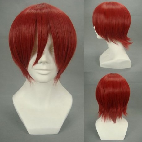 one piece shanks rote cosplay perucke