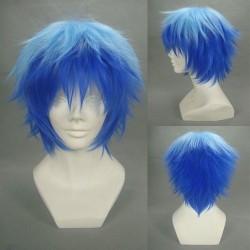 Vocaloid Kaito hell & dunkelblaue Cosplay Perücke