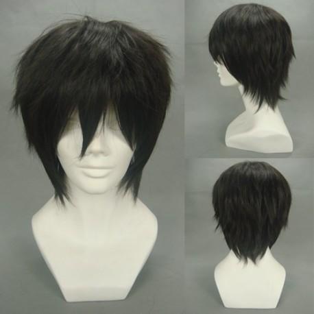 haruka nanase schwarze cosplay perucke