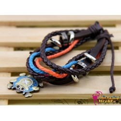 anime manga one piece skull personalized leather bracelet cosplay accessories
