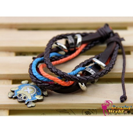 anime manga one piece tony tony chopper personalized leather bracelet cosplay accessories