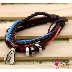 vocaloid cosplay accessories personalized leather bracelet