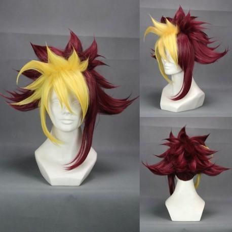 zexal iv gelbe rote cosplay perucke