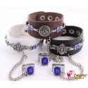 Black Butler Ciel Phantomhive Armband Bracelet Cosplay Accessoire2er Set