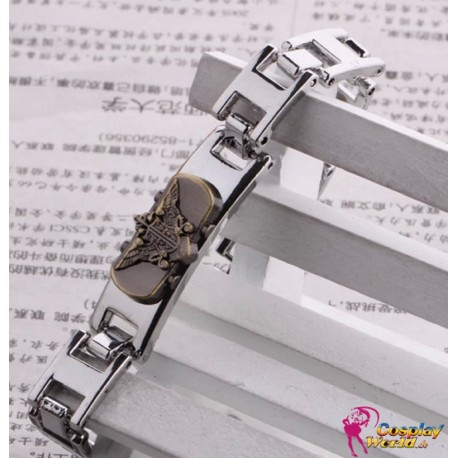 black butler eagle abzeichen silver alloy bracelet cosplay accessories anime manga