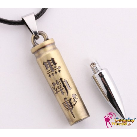 anime manga black butler bullet pendant necklace cosplay accessories