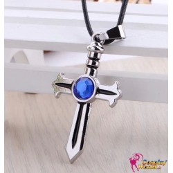 anime manga fairy tail cosplay accessoire kreuz halskette necklace