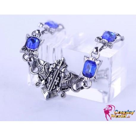 black butler ciel phantomhive armband bracelet cosplay anime manga edelstahl