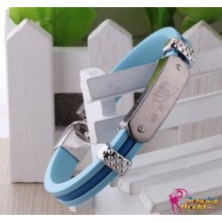 anime manga fairy tail cosplay accessoire personalisierte blaue silikon armband