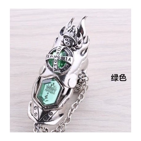 anime manga hitman reborn cosplay accessories green rings