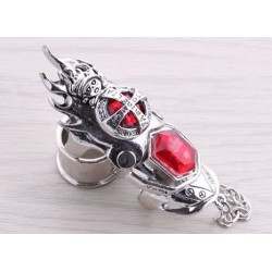 Anime Manga Hitman Reborn cosplay Accessoire rote Ring 2er Set