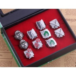Anime Manga Attack on Titan Shingeki no Kyojin Training Crops Cosplay Accessoire Ring Set