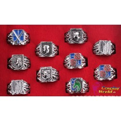 anime manga shingeki no kyojin attack on titan crops cosplay accessory ring set