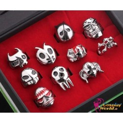 10 Stück Rings Anime Manga Bleach Crops Cosplay Accessoire Ring Set