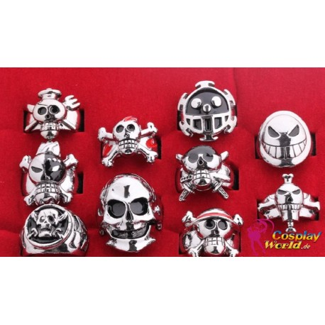 10 Stück One Piece Luffy Rings Cosplay Accessorie Ring Set Anime Manga