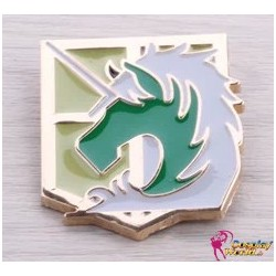 shingeki no kyojin attack on tian military police brigade badge unicorn badge cosplay accessories