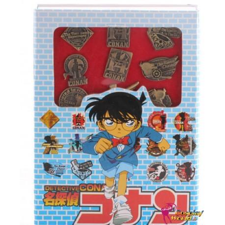 16 stuck abzeichen badge detective conan cosplay accessorie badge set anime manga