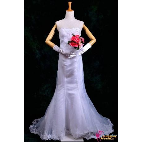 anime manga one piece boa hancock wedding dress cosplay costume kostum deluxe