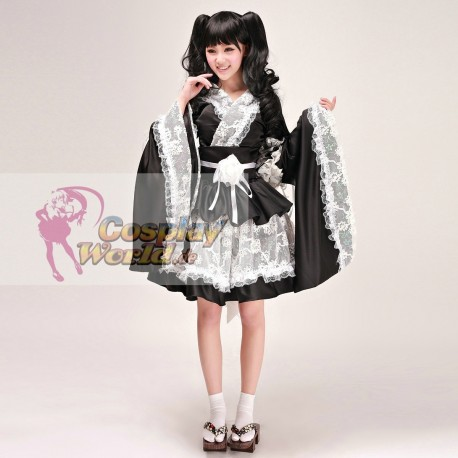 hochwertige lolita meido kimono cosplay kostume