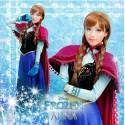 Deluxe Disney Frozen Eiskönigin Anna Kostüm Kleid Suit