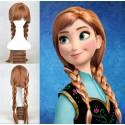 Anime Frozen Anna Perücke Wig