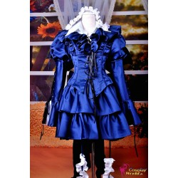 anime manga pandora hearts cosplay kostume alice b rabbit lolita kleid
