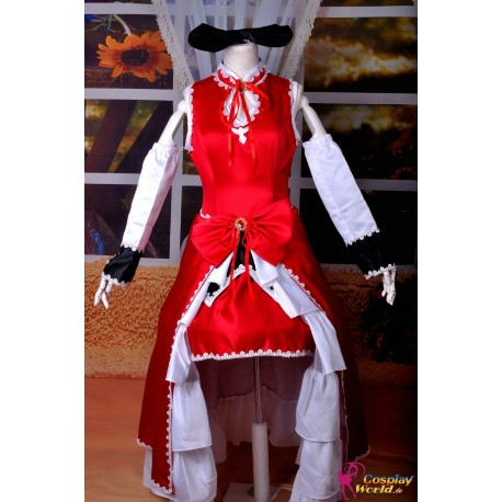 anime manga puella magi madoka magica cosplay kostume kyoko sakura lolita kleid
