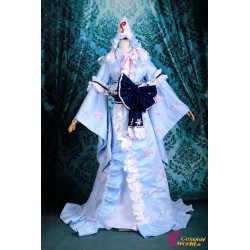 touhou project saigyouji yuyuko lolita cosplay kostume anime manga